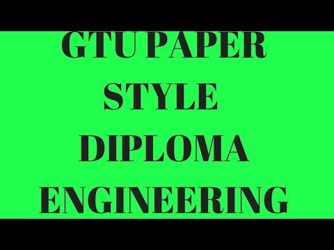 GTU Diploma Question Paper