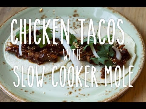 Slow Cooker Mole with Shredded Chicken
