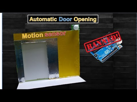 How to make a Automatic Door Opening  using Motion sensor