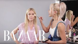 A 50 Year Old Tries an Instagram Makeup Routine | The Younger Games | Harper