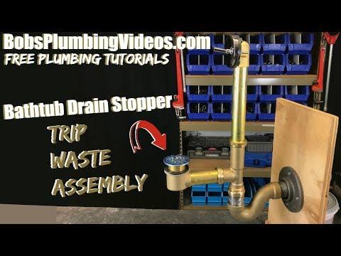 Bathtub Drain Stopper / Trip Waste Assembly