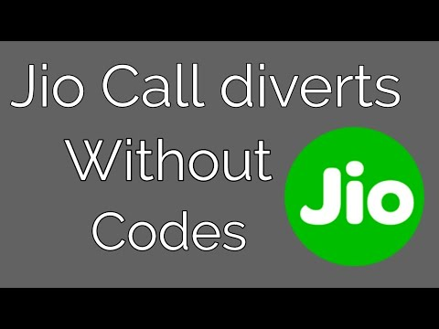 Jio call divert without codes || 2017 December