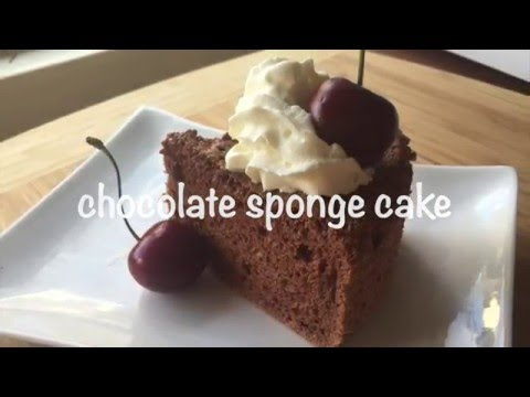 how to make chocolate sponge cake (resep bolu coklat)