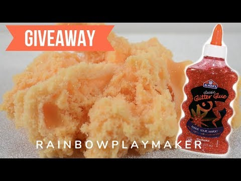 HOW TO MAKE CLOUD SLIME WITH ELMER'S GLITTER GLUE! GIVEAWAY ANNOUNCEMENT!
