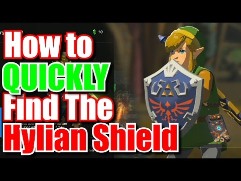 How To Easily Find The Hylian Shield - Zelda Breath of the Wild