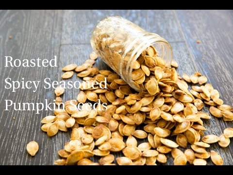 Roasted Spicy Seasoned Pumpkin Seeds