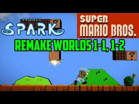 Super Mario Bros. Worlds 1-1, 1-2 (Great Remake)   Project Spark   Xbox One Gameplay Part 23