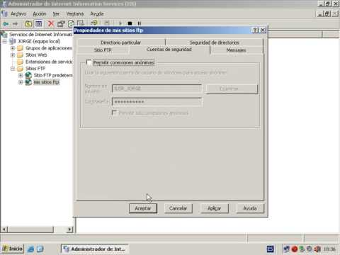 Windows Server 2003 (Instalar y Configurar IIS-FTP)