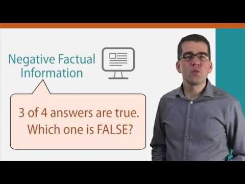 TOEFL iBT - Reading Section (Factual/Negative Factual Questions) | www.edx.org