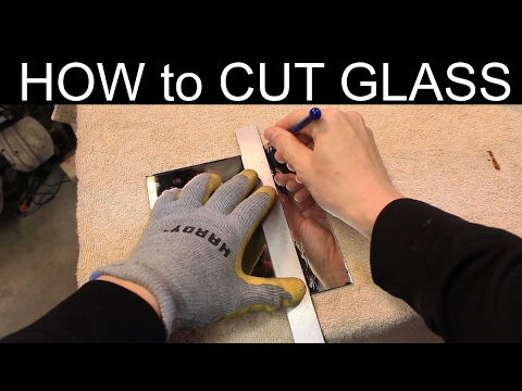 How to Cut Mirror Glass - QUICK