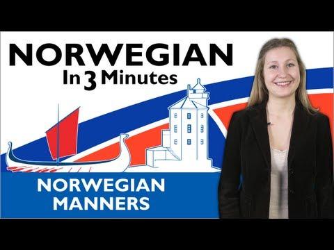 Learn Norwegian - Norwegian in Three Minutes - Norwegian Manners