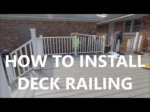 Building a Deck for Your Dad - How To Install Deck Railing - Day 19