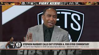Stephon Marbury calls out Stephen A. for his comments on Kyrie Irving | First Take
