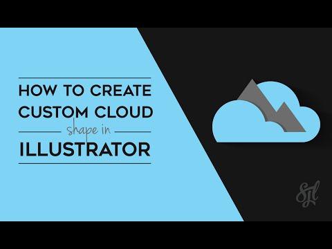 How to Create Custom Cloud Shape in Illustrator