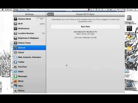General iPad Settings: iTunes Wi-Fi Sync.mp4