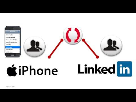 Sync LinkedIn & iPhone / iPad address book