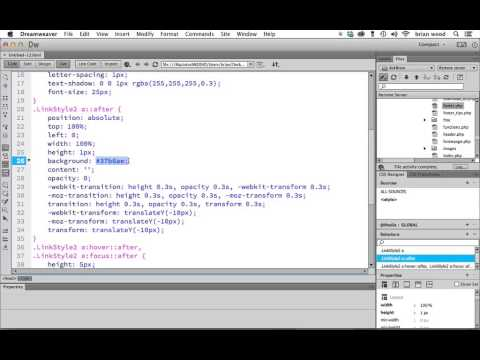 Add CSS3 Transition to a text link