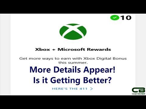 Xbox Digital Bonus on Microsoft Rewards - More Xbox Live Rewards Transition Details