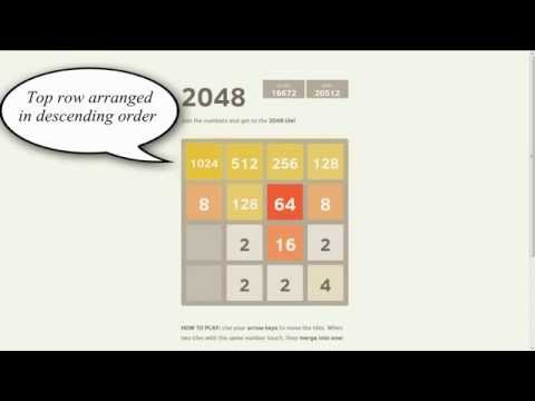 Tips to win 2048