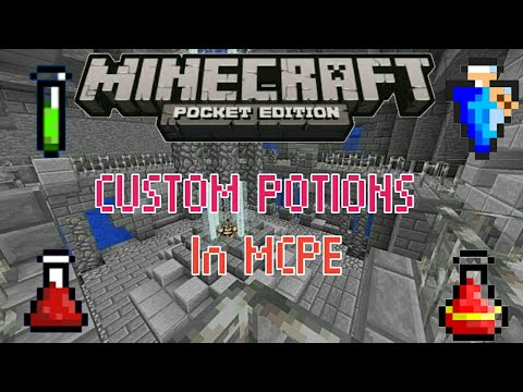 MCPE COMMANDS : How to make CUSTOM POTIONS in MCPE