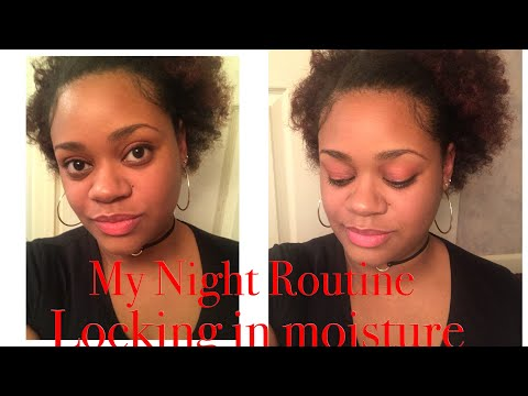My Night Routine for Natural Hair | Lock in moisture