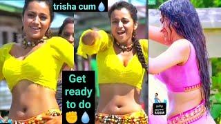 CUM On திரிஷா Full Screen Video HD Trisha Hot Navel Boobs