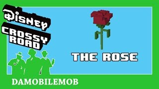 ★ DISNEY CROSSY ROAD Secret Characters   THE ROSE Unlock (Beauty and the Beast Update)