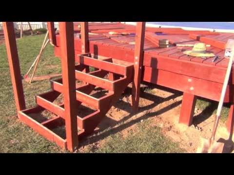Pool Deck Building: Railing Posts & Stair Framing