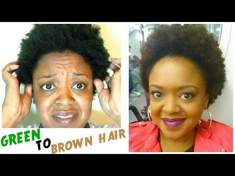 From GREEN to BROWN! | How I CORRECTED my HAIR COLOUR | THE CURLY CLOSET
