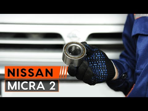 How to replace front wheel bearing onNISSAN MICRA 2 Hatchback[TUTORIAL AUTODOC]