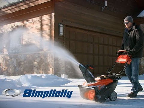 Simplicity Single-Stage Snowblower Features