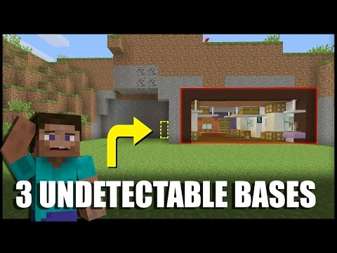 How to Make 3 Undetectable Base Entrances in Minecraft