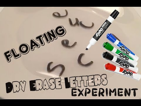 Floating Dry Erase Letters Experiment