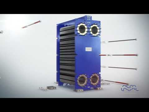 Assembly of Alfa Laval Gasketed plate heat exchanger