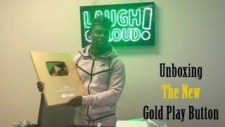 Kevin Hart Unboxing the NEW Gold Play Button | Laugh Out Loud Network