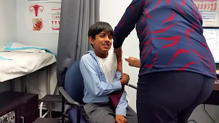 Dinel getting his flu vaccination