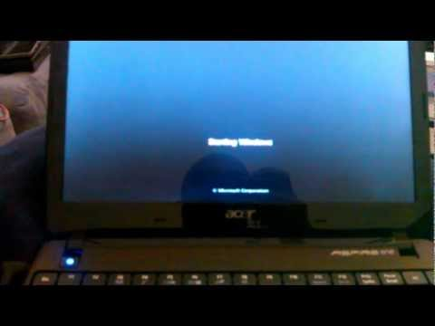 How to restore an Acer Aspire One 722 Netbook running Windows 7 back to factory defaults