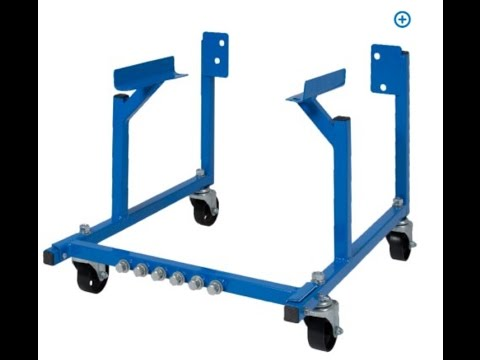 $30 ebay/Amazon Ford & Chevy Engine Dolly/Stand - Review & Assembly How To