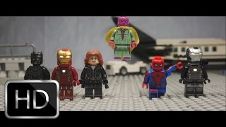 Captain America: Civil War Airport Scene in Lego