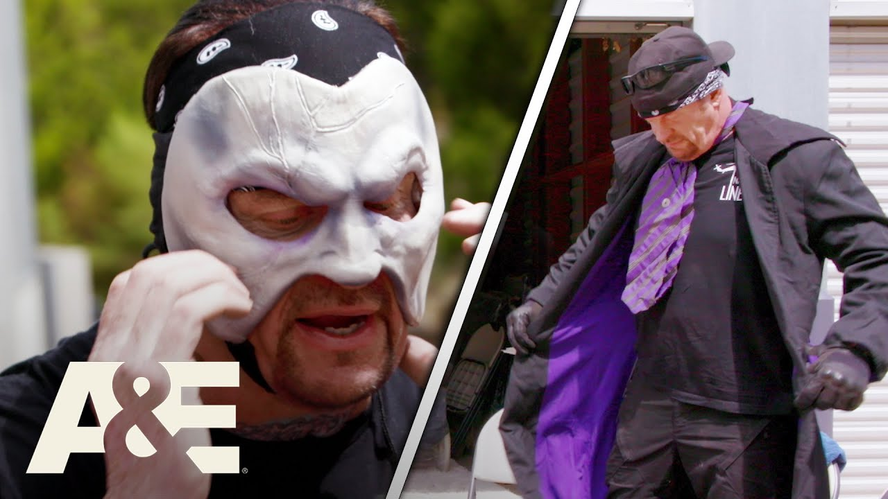 WWE's Most Wanted Treasures: Undertaker Spots His Purple Gear And Mask In Storage Unit   A&E