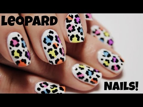Rainbow Leopard Print Nail Art Tutorial | The Nail Trail
