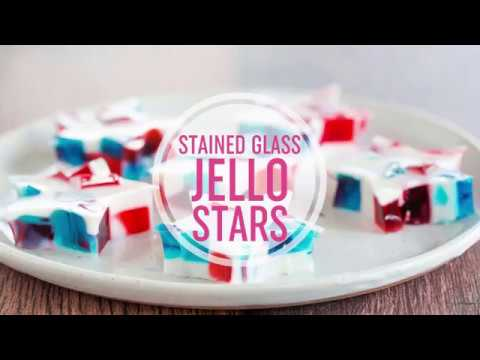 Stained Glass Jello Stars