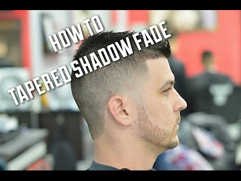 Shadow Fade Haircut with Taper and Scissors on Top!