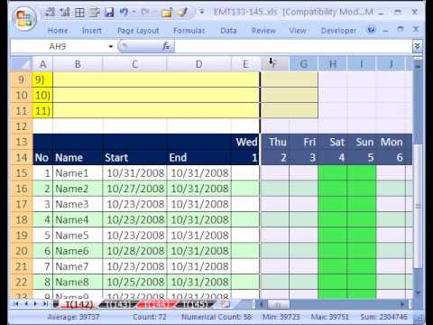 Excel MT142 p2: Array Formula for Counting Dates