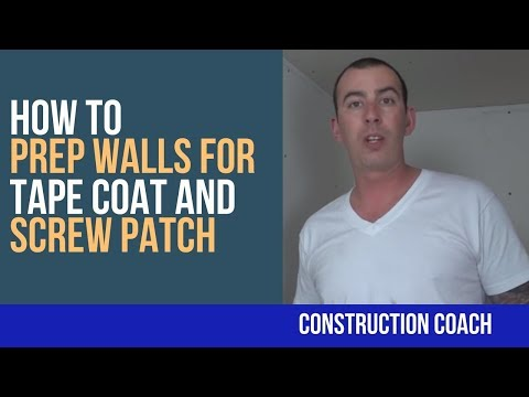 How to Prep Walls for Tape Coat and Screw Patch