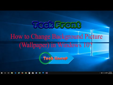 How to Change Background Picture as Wallpaper on Desktop of Windows 10