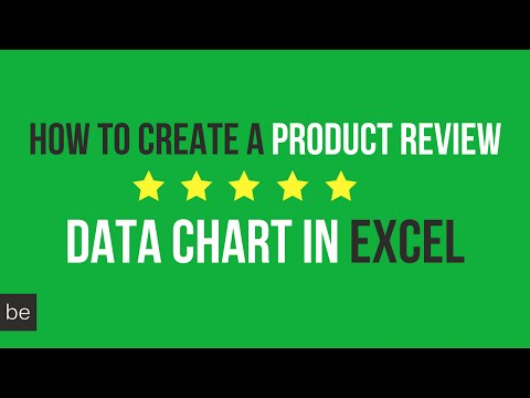 How to Create a Product Review Data Chart in Excel
