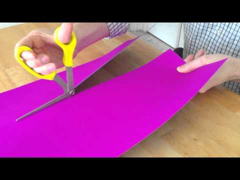 Right Shears cutting across poster board