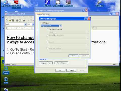 Change Keyboard Layout in XP