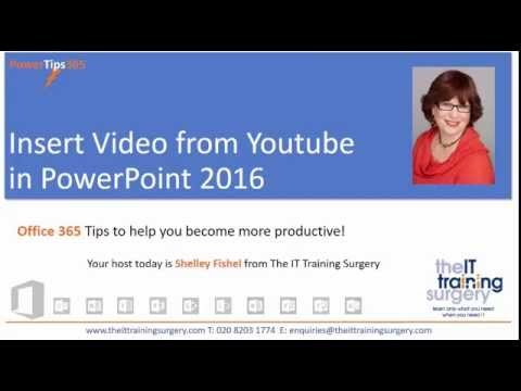 Insert Video from YouTube in PowerPoint 2016